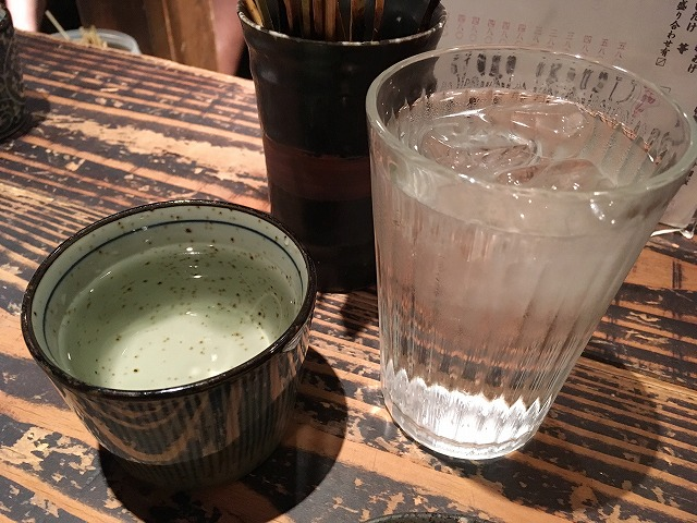 「ちゃぶや」日本酒(英勲)