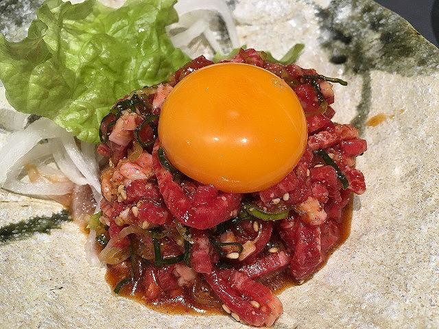 京都焼肉処焼肉「きはら」タンユッケ