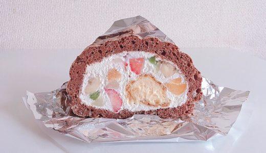 【閉店】シェ・ラ・メール 寺町本店 【お菓子の木】フルーツがもりもりに詰まったビッグサイズのロールケーキ!