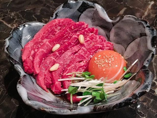 「京のお肉処 弘 千本三条本店」和牛ユッケ