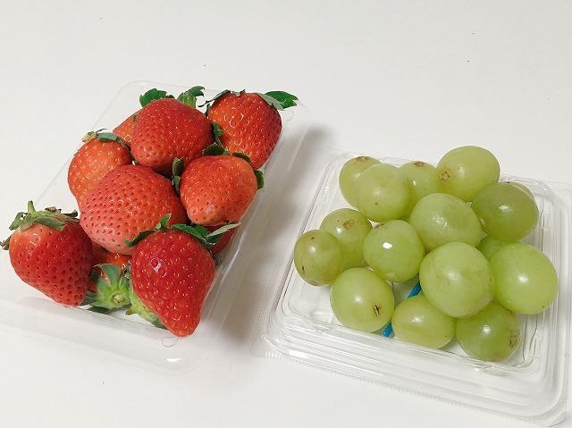 イチゴとグリーンシードレスグレープ