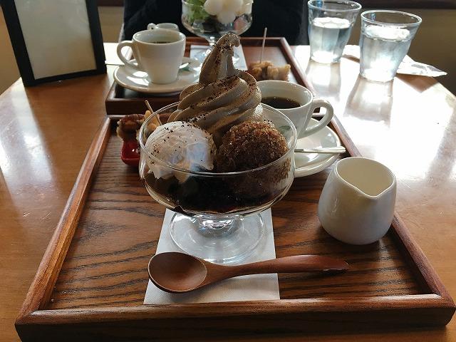 「小川珈琲 洛西店」コーヒーゼリークリーム