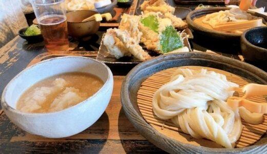 山元麺蔵 行列必死の人気店!コシのあるモチモチのうどんと野菜が甘くてサクサクの天ぷらは美味しいの一言【岡崎】