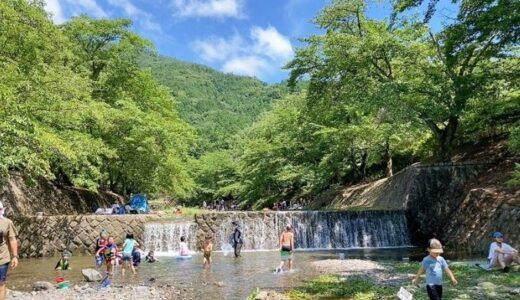 七谷川野外活動センター|亀岡にある予約のできるキャンプ・BBQスポット!すぐそばを流れる七谷川は流れも緩やかで子供たちも安心して遊べました